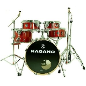 Bateria Nagano World new modern dark wine vermelha bumbo 20