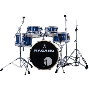 Bateria Nagano World new modern blue race azul bumbo 20