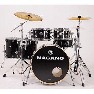 Bateria Nagano World Full Ebony Sparkle preto 22 10 12 14 16