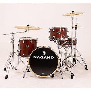 Bateria Nagano World Be bop Coffe Brow bumbo 18 cx 14