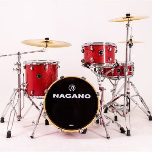 Bateria Nagano World Be bop Wine Sparkle bumbo 18 cx 14