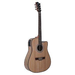 Violao Tagima Memphis MD30 Natural Elétrico Folk