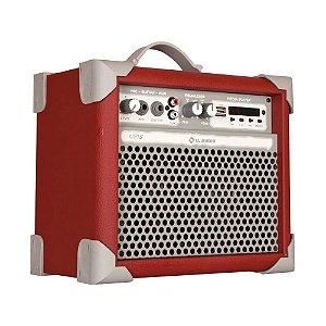 Caixa De Som LL Audio Amplificada Multiuso up5 Red Bt