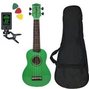 Ukulele Tagima Memphis Honu verde c/ capa afinador