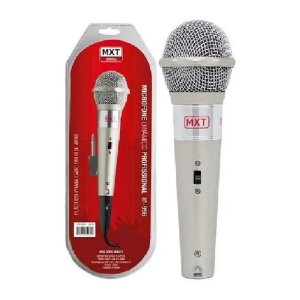 Microfone Dinâmico Caixa Som Karaokê Mxt M996 Cabo 3Mts P10