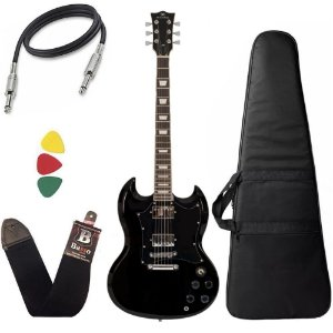 Kit Guitarra SG Michael Hammer GM850N BK Preta Capa