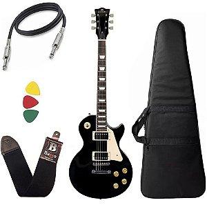 Kit Guitarra Michael GM750N Preta BK Les Paul Capa