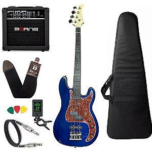 Kit Baixo Strinberg Pbs40 4 cordas Azul Amplificador borne