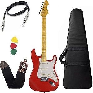 Guitarra Michael GM222N vermelha Red Strato Stonehenge capa