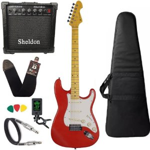 Kit Guitarra Michael GM222N vermelha Red Strato Amplificador