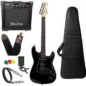 Kit Guitarra Michael GM237N Metallic Black Amplificador