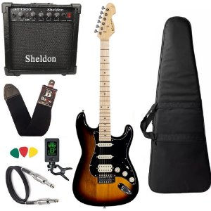 Kit Guitarra Michael GM237N Sunburst Black Amplificador