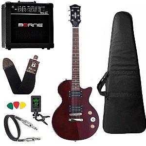 Guitarra Les Paul Strinberg Lps200 Vermelho Twr Cubo Borne