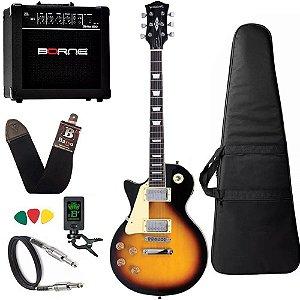 Kit Guitarra Canhota Strinberg Lps230 Sunburst Cubo Borne