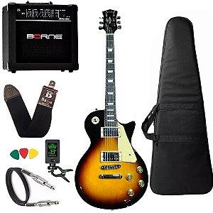 Kit Guitarra Strinberg Lps230 Sunburst Sb Cubo Borne