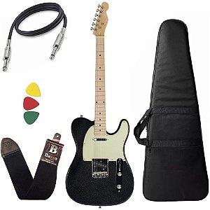 Kit Guitarra Telecaster Michael GM385N Metallic Preto Capa