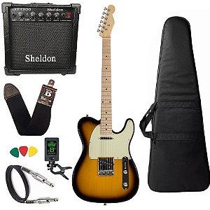 Kit Guitarra Michael GM385N Vintage Sunburst Amplificador