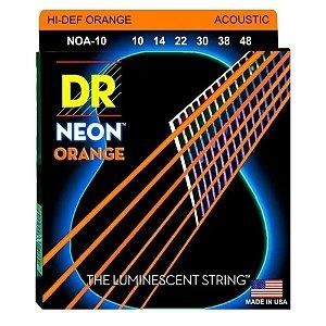 Encordoamento Violao Dr strings Hi-Definition Neon Laranja