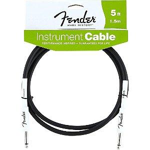 Cabo Fender p/ Instrumentos 1,5M Performance Preto