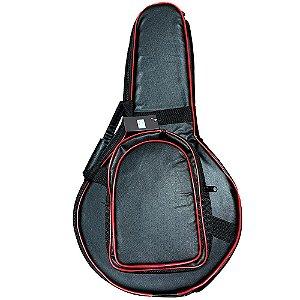 Semi Case Banjo couro Premium aveludado 4cm espuma proteção
