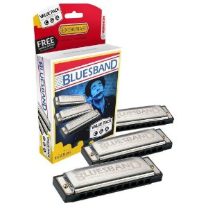 Kit 3 Gaitas Hohner Blues B harmonica C G A 008780