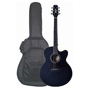 Violão Jumbo Seizi Shogun Black Open Pore Ltd Edition bag