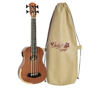 Ukulele Bass Seizi Bora Bora Sapele Elétrico com Bag