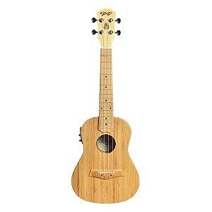 Ukulele Seizi Ukulele Bali Concert Elétrico Solid Bamboo