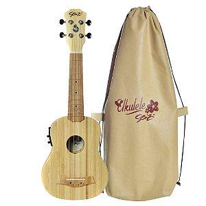 Ukulele Elétrico Seizi Bamboo Bali Soprano Solid