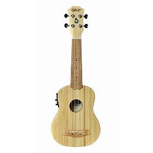 Ukulele Seizi Bali Soprano Elétrico Solid Bamboo
