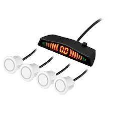 Sensor de Estacionamento 4 Pontos Universal Branco 18mm