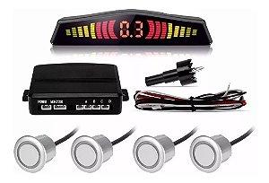 Sensor de Estacionamento 4 Pontos Universal Prata 18mm