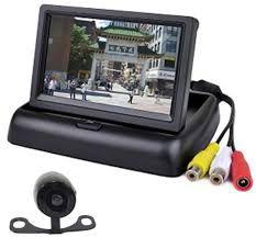 Kit Monitor Tela LCD 4.3 Polegadas Universal com Câmera de Ré e Frontal Borboleta