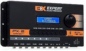 Crossover Expert PX2 6 Canais Processador De Áudio Digital Bluetooth Aplicativo Android IOS
