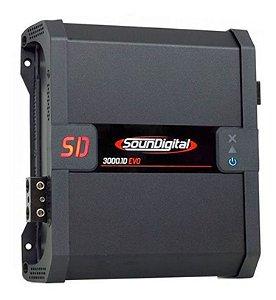 Módulo Amplificador Digital SounDigital SD3000.1D EVO - 1 Canal - 3000 Watts RMS - 1 Ohm