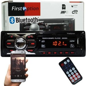 RADIO MP3 PLAYER COM BLUETOOTH E CONTROLE REMOTO