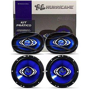 Kit Prático de Alto Falantes Hurricane 2 Alto Falantes CM6 + 2 Alto Falantes CM69 6x9