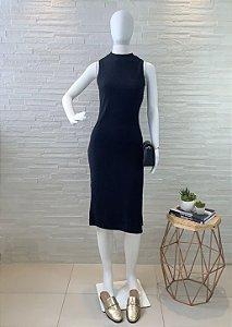 Vestido Canelado Midi