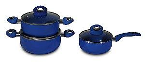 Kit de Panelas Ceramic Blue