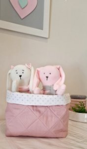 Cesto Organizador de Brinquedos Baby Rose