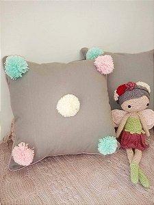 Almofada Decorativa Pompom