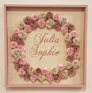 Porta Maternidade Julia Sophie com Rosas
