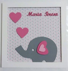 Porta Maternidade Maria Elefante Corações