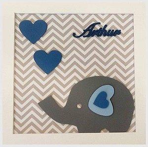 Porta Maternidade Arthur Elefante Corações