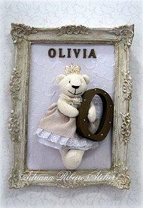 Porta Maternidade Ursinha com Letra