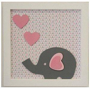 Quadro Elefante com Corações