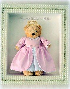 Quadro Ursa Princesa com Pérolas