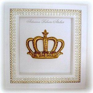 Quadro Coroa Dourada