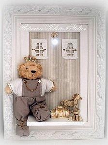 Quadro Ursinho Príncipe Feliz