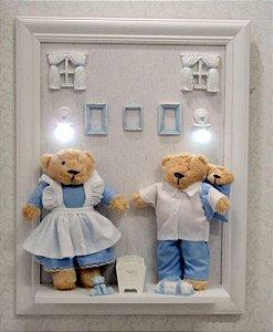 Quadro Urso Família Passeio